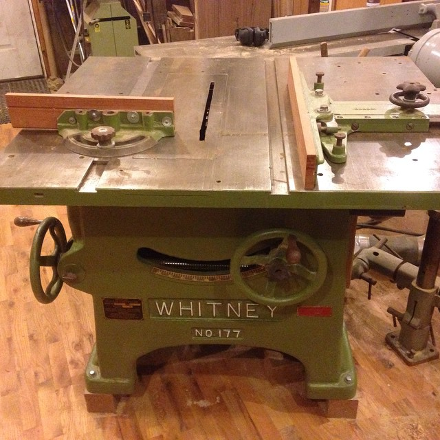 Here's my tablesaw. The trusty Whitney 177. New bearings, 5hp 220v/440v motor. Excellent condition. For sale…  #owwm #Whitney #tablesaw #forsale #workshop  http://ift.tt/1H8NaEq