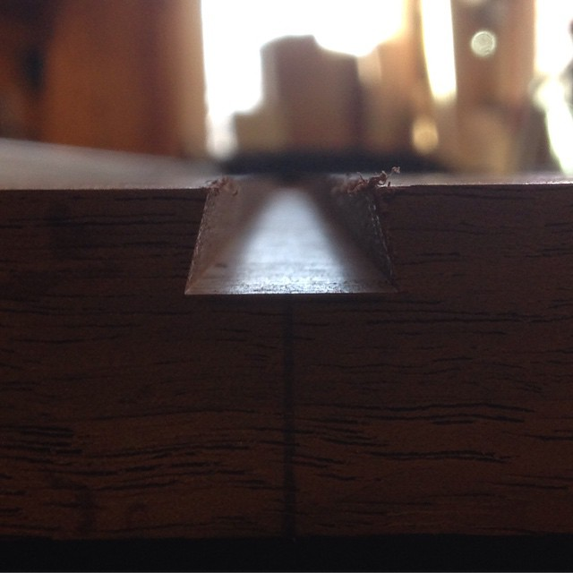This morning I am trying to get the partitions into Kelvin's workbench insert cabinet. I much prefer sliding dovetails to regular dadoes because they provide mechanical strength to the joint. I also think they look a little more interesting…  http://ift.tt/1QEZ4LP