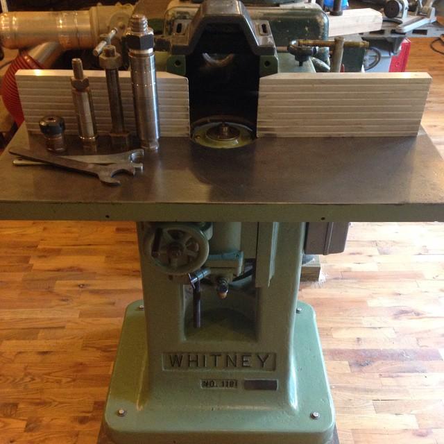 Putting my trusty Whitney shaper up for sale. I'm a little sad…  #owwm #shaper #vintage #machinery #whitney  http://ift.tt/1OeM2AK