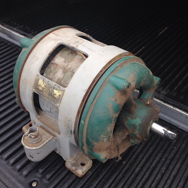 This is the motor off a Yates American Y30 bandsaw. It was specially made for Yates by Louis Allis. I contacted L.A. And unfortunately they don't have any records on the motor. My buddy took the rotor out about 10yrs ago and lost the bearings. Not sure what it needed so I dropped it off at my local motor shop today. Hopefully they will figure it out in short order!  #Y30 #motor #bandsaw #vintage #owwm #machine #workshop #restoration #iwantthissawbacktogether  http://ift.tt/1Dqdg5K