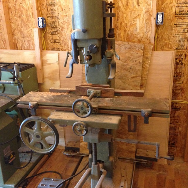 My Wysong and Miles hollow chisel mortiser. Great machine that I got from my buddy Smitty  #Wysong #miles #mortiser #owwm  http://ift.tt/1DXiBNS