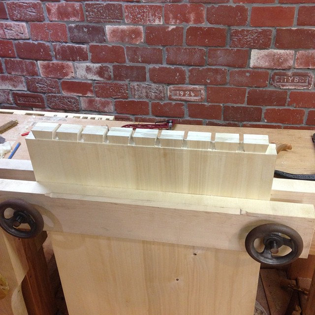 Dovetails galore!   #tool chest #Moxon #sawing  http://ift.tt/1DXiEcE