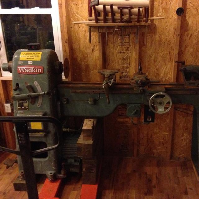 Shop lathe - Wadkin RS6 #wadkin #lathe #woodshop #workshop  http://ift.tt/1Fo3W0L