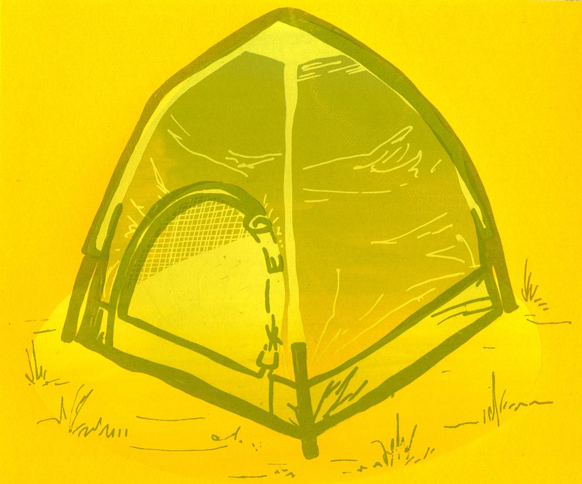 Tent Portal  2017  screen print