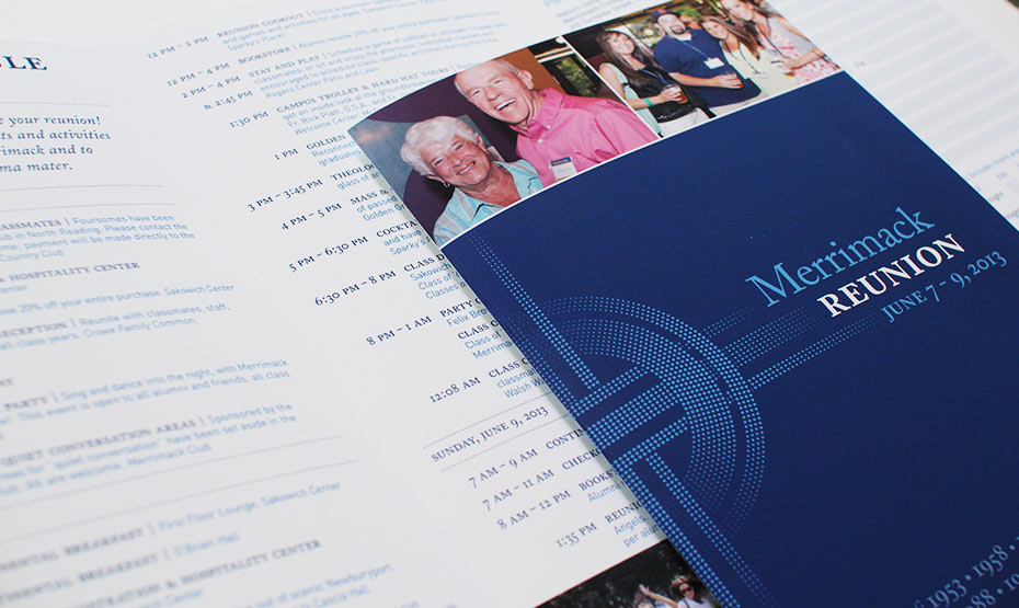 Merrimack College Reunion Invitation