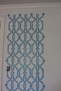 Start your stencil project on a large, blank wall where you don't have to work around windows or architectural features.