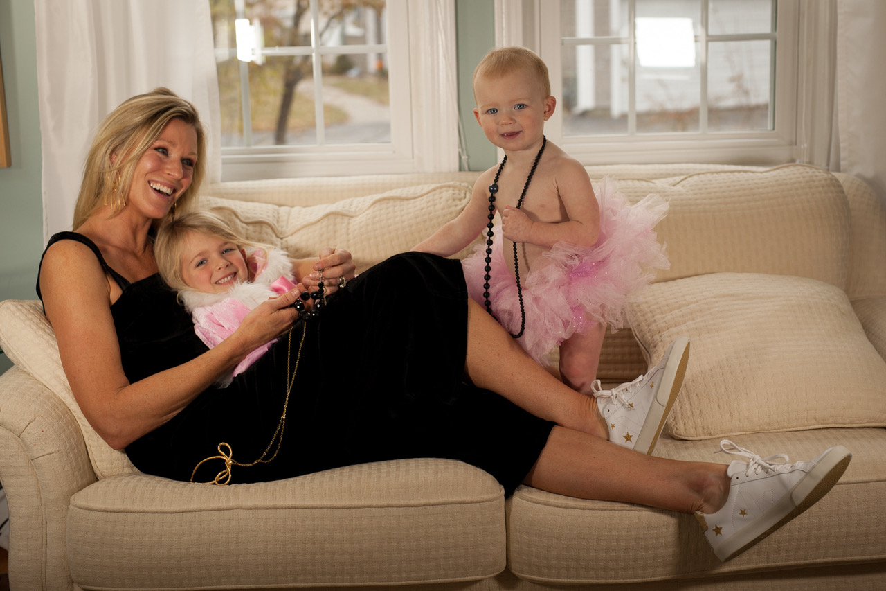 Me with my little assistants, Charlotte & Annika. Photo by Alyssa Fortin Photography