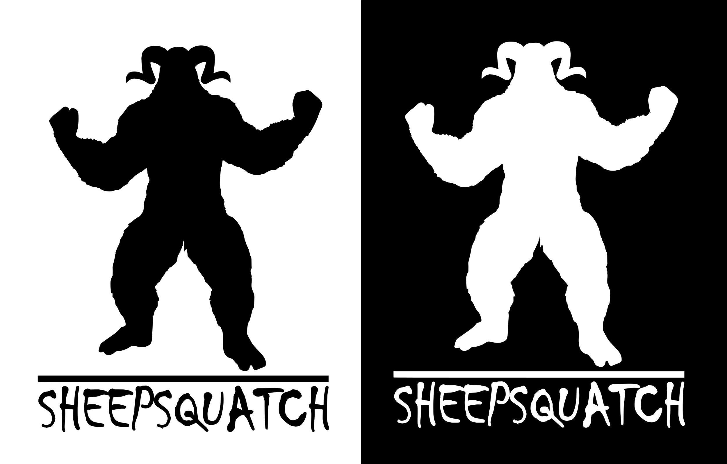 Sheepsquatch - Measures 3.5x4.5