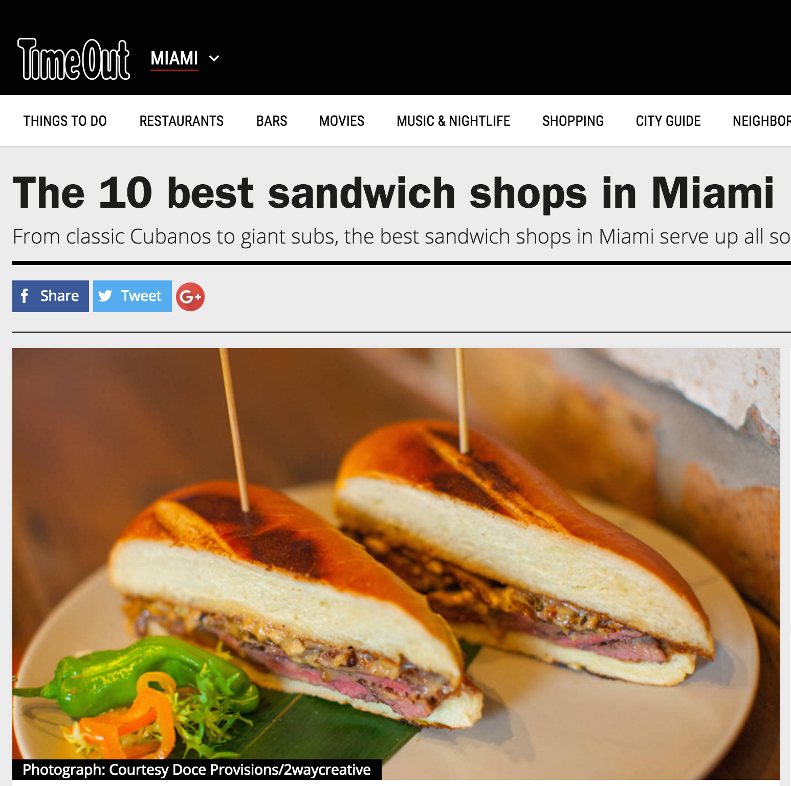 The 10 best sandwich shops in Miami ... READ MORE