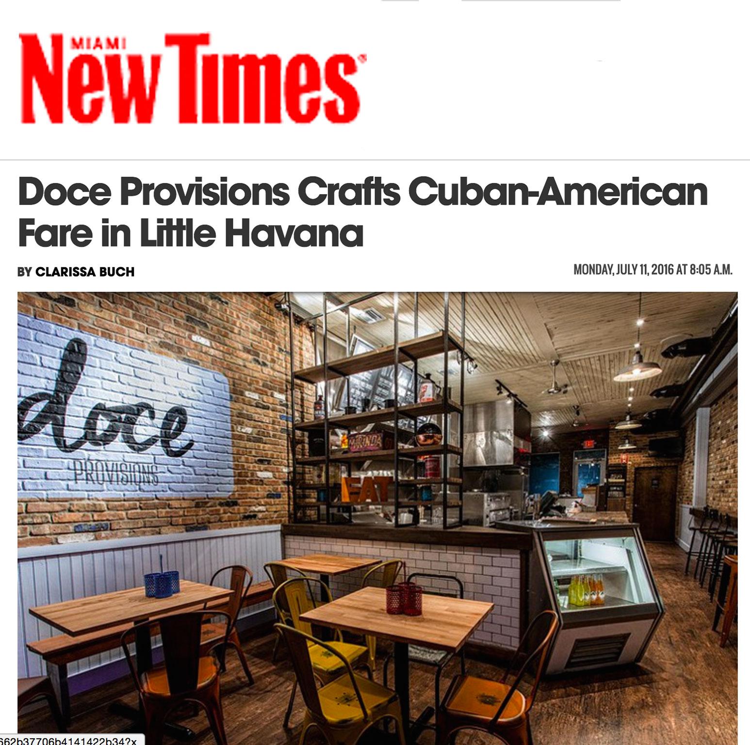 Doce Provisions crafts Cuban-American Fare in Little Havana ... READ MORE