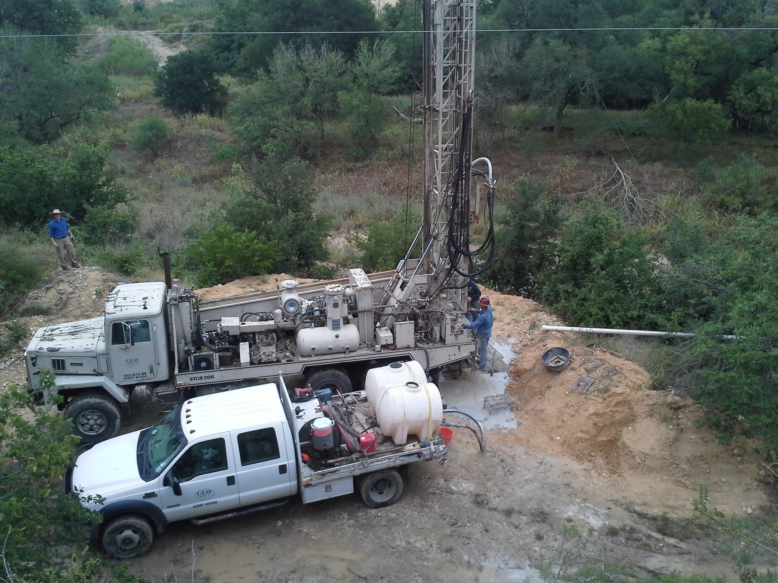 Monitor Well Drilling