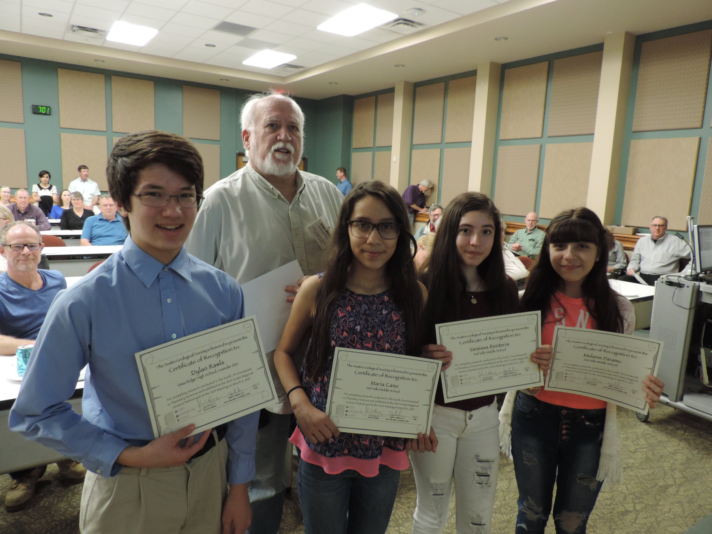 Science Fair earth science standouts. March 2017.