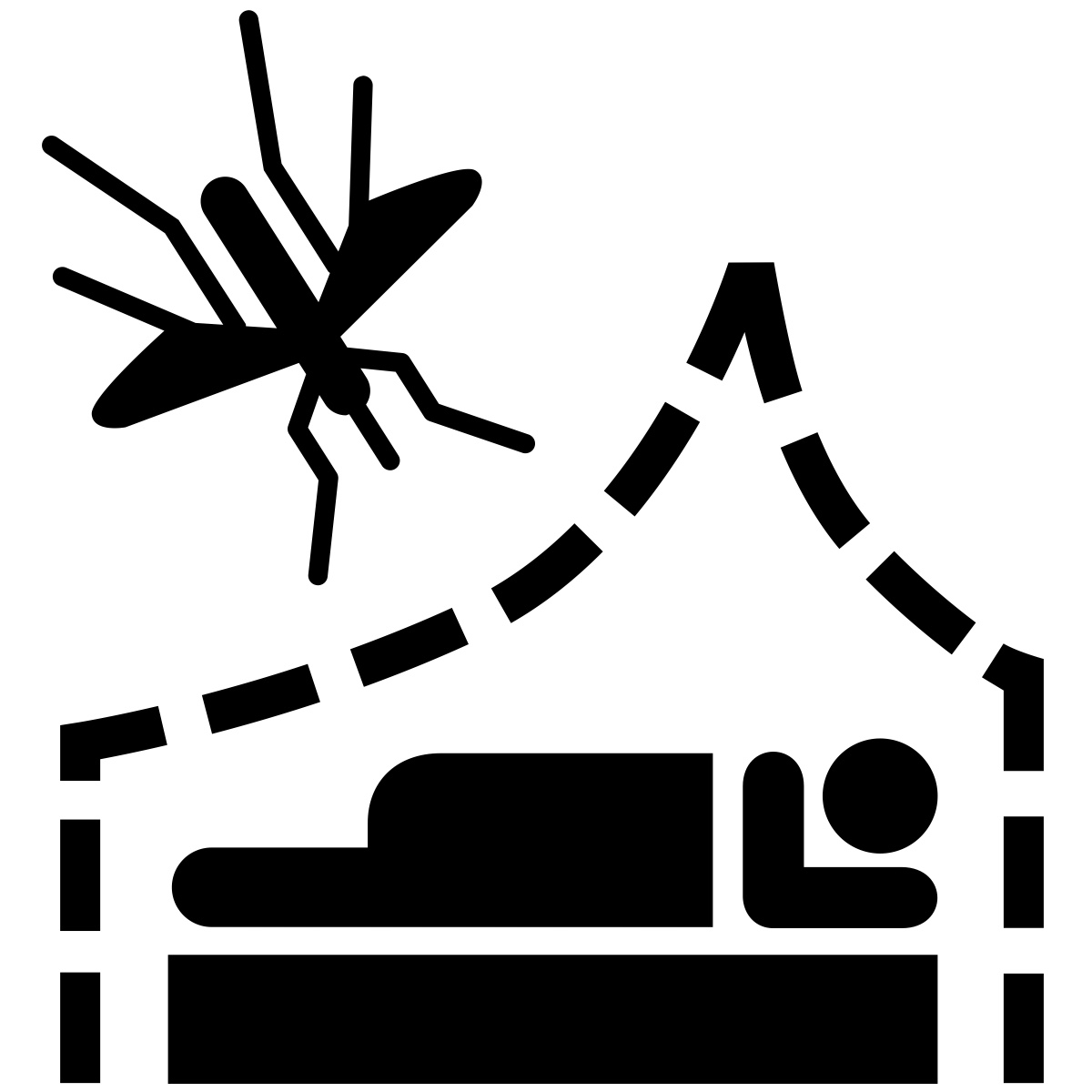 7. ALWAYS TUCK. - When using your net, make sure that you tuck it in on the sides of your bed. Anopheles mosquitoes are designed to search for an opening and will travel on a downward trajectory to find this net breach when they come across the barrier.