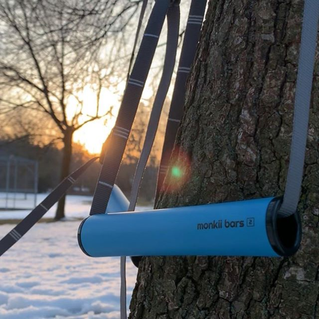 Outdoor workouts are made better with the right equipment and Monkii Bars are a personal favorite.  Easy to setup, lightweight, and effective for taking your bodyweight workouts to the next level.
