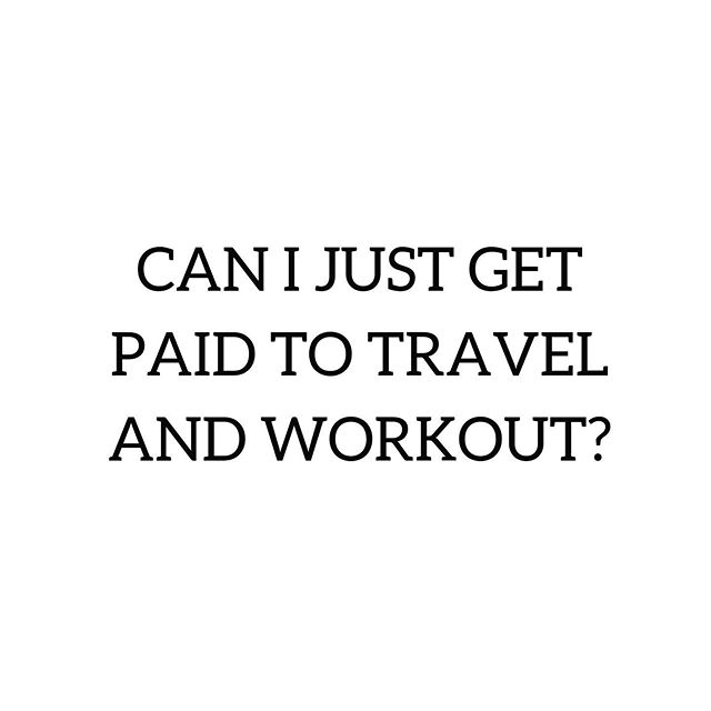 What's your dream job?  #travel #fitness #workout #travelandworkout #workoutandtravel #stayfitandtravel #fittraveler #fittravel #fittravels #travelfitness #travelandfitness #travelfit #travelfitlifestyle #fitlife #fitnesslife #crossfitlife #travellife #crossfittravel #workoutanywhere #hotelworkout #hotelgym #hotelgymworkout #travelworkout #travelwod #hotelgymlife #fitnesslifestyle #fitnation #fitnessjourney