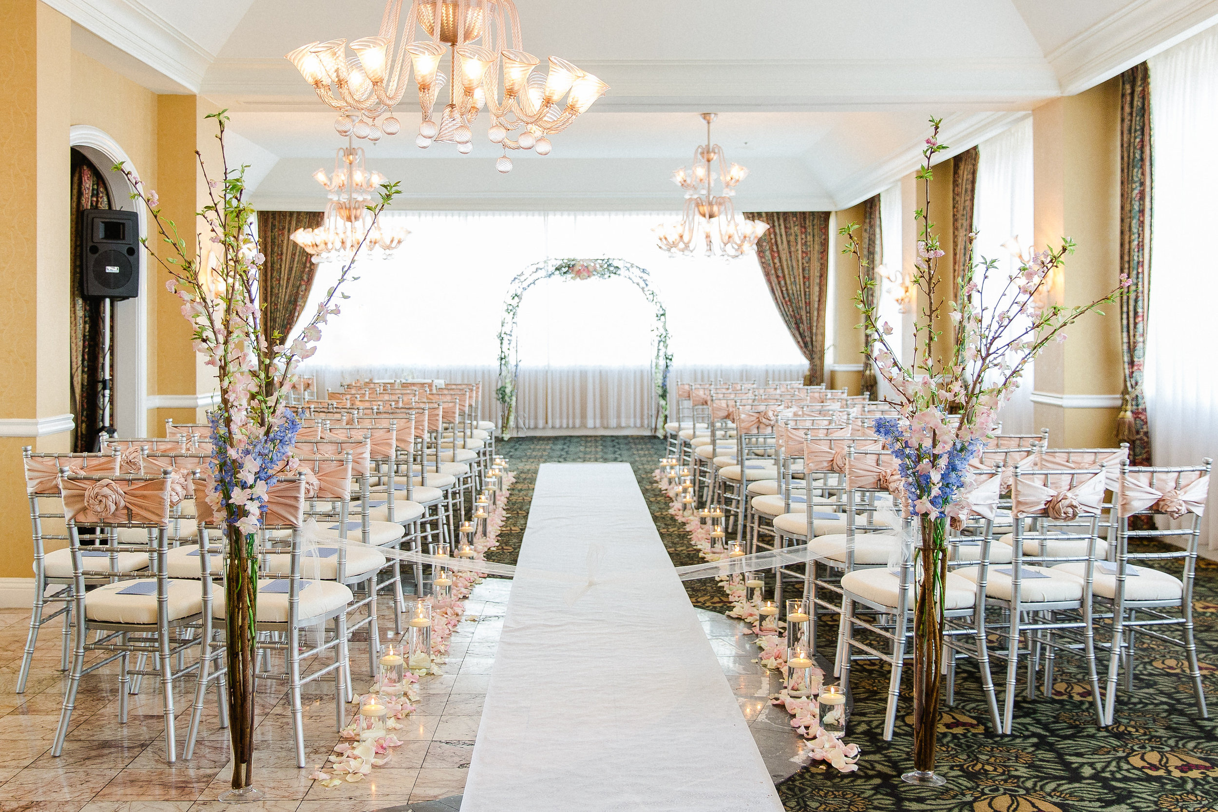 Silver Chiavari Chairs with Ivory Signature cushions