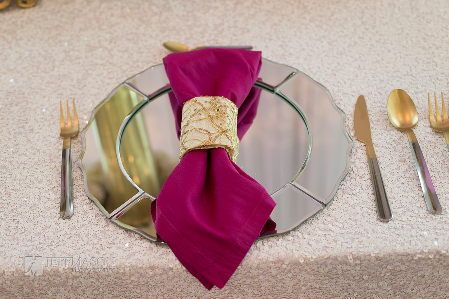 Scalloped Edge Mirror Charger Plates
