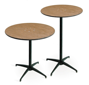"Hi-top and Cafe Tables  |  36"", 30"" (both heights)"