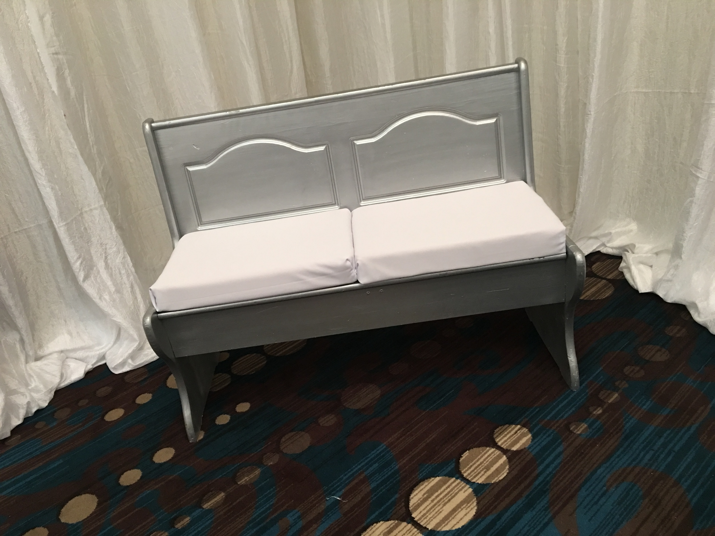 Bride and Groom Bench (colors customizable)