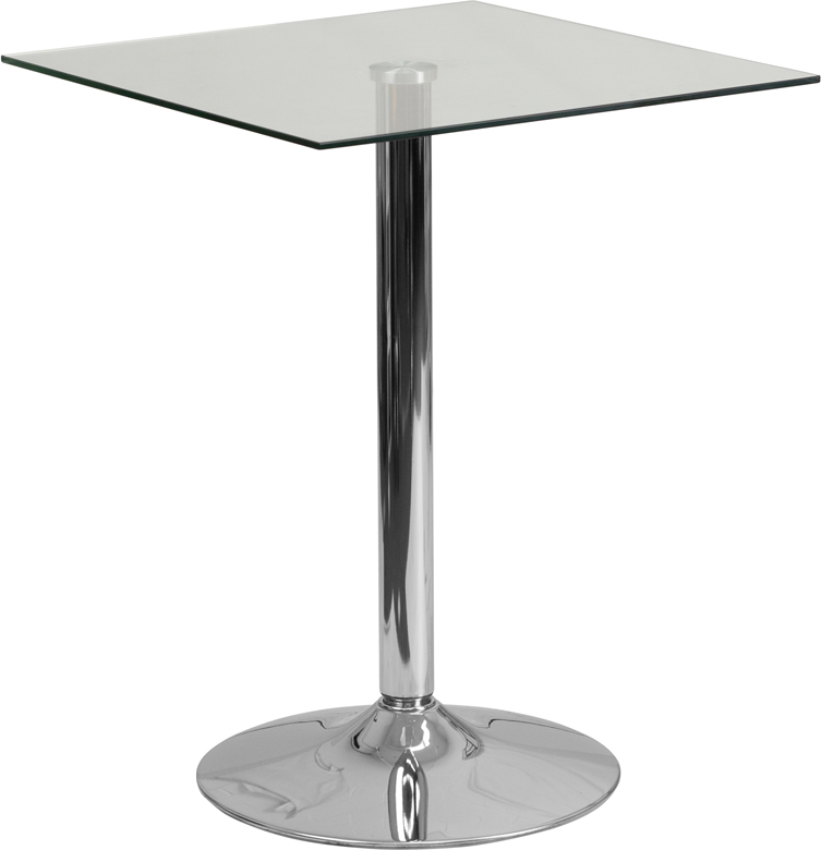 "24"" Glass Square Table"