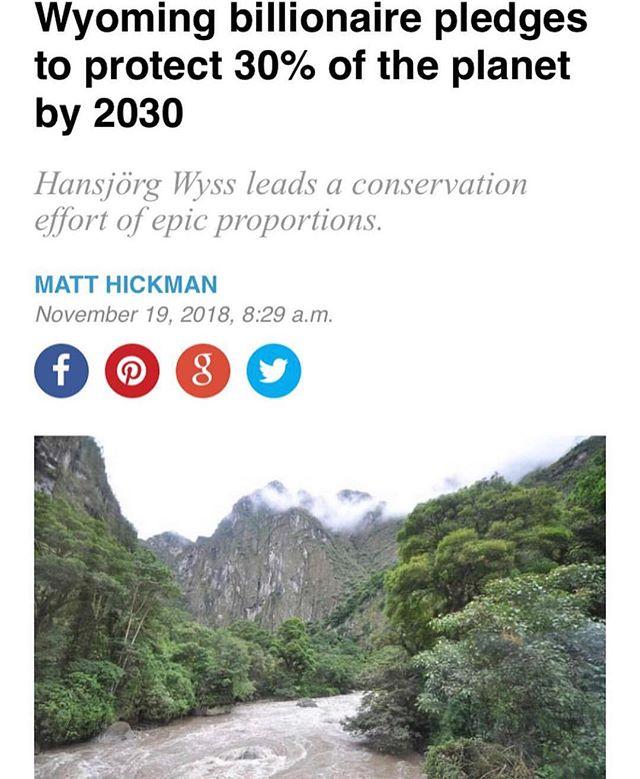 Swiss billionaire, Hansjörg Wyss from Wyoming pledges to donate $1B over the next 10 years to protect 30% of the planets land and oceans. Full article on mnn.com. @mothernaturenetwork @leonardodicaprio @leonardodicapriofdn @lildickygram #EveryDayIsEarthDay #everydayisearthday🌎 #wyssfoundation #welovetheearth