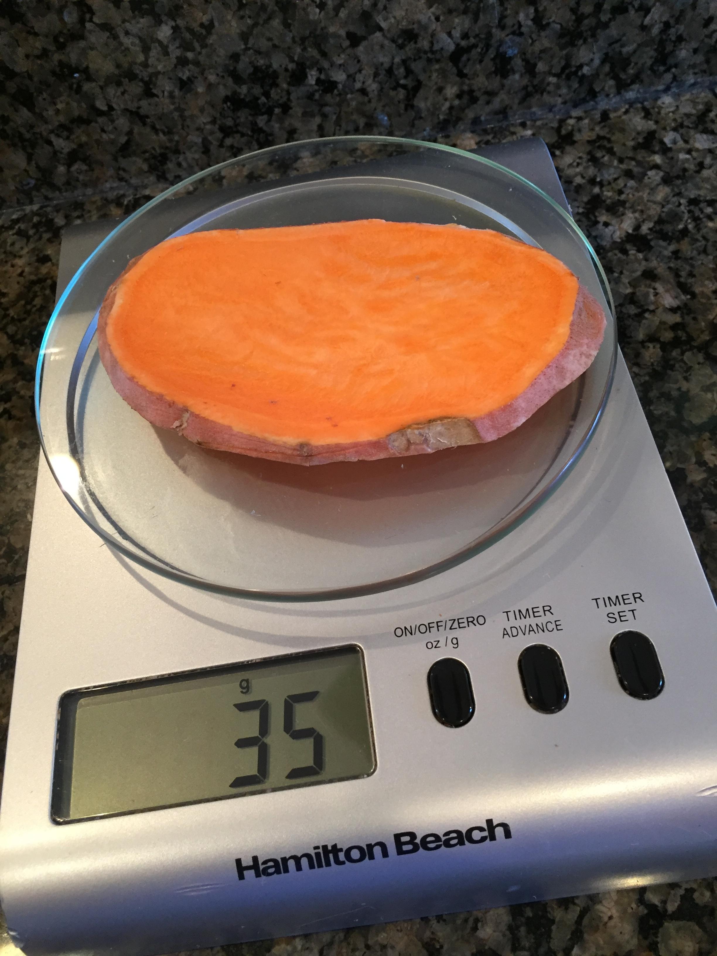 1/4 inch slice - 1.2 ounces or 35 grams