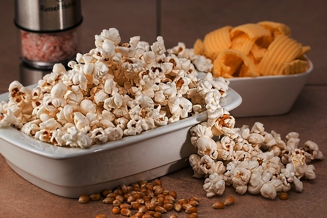 Fiber - I'm always telling my grandchildren that lightly buttered popcorn is a wonderfully healthy snack for them. It's a great source of both soluble and insoluble fiber, which is great for our digestive system and our colon.