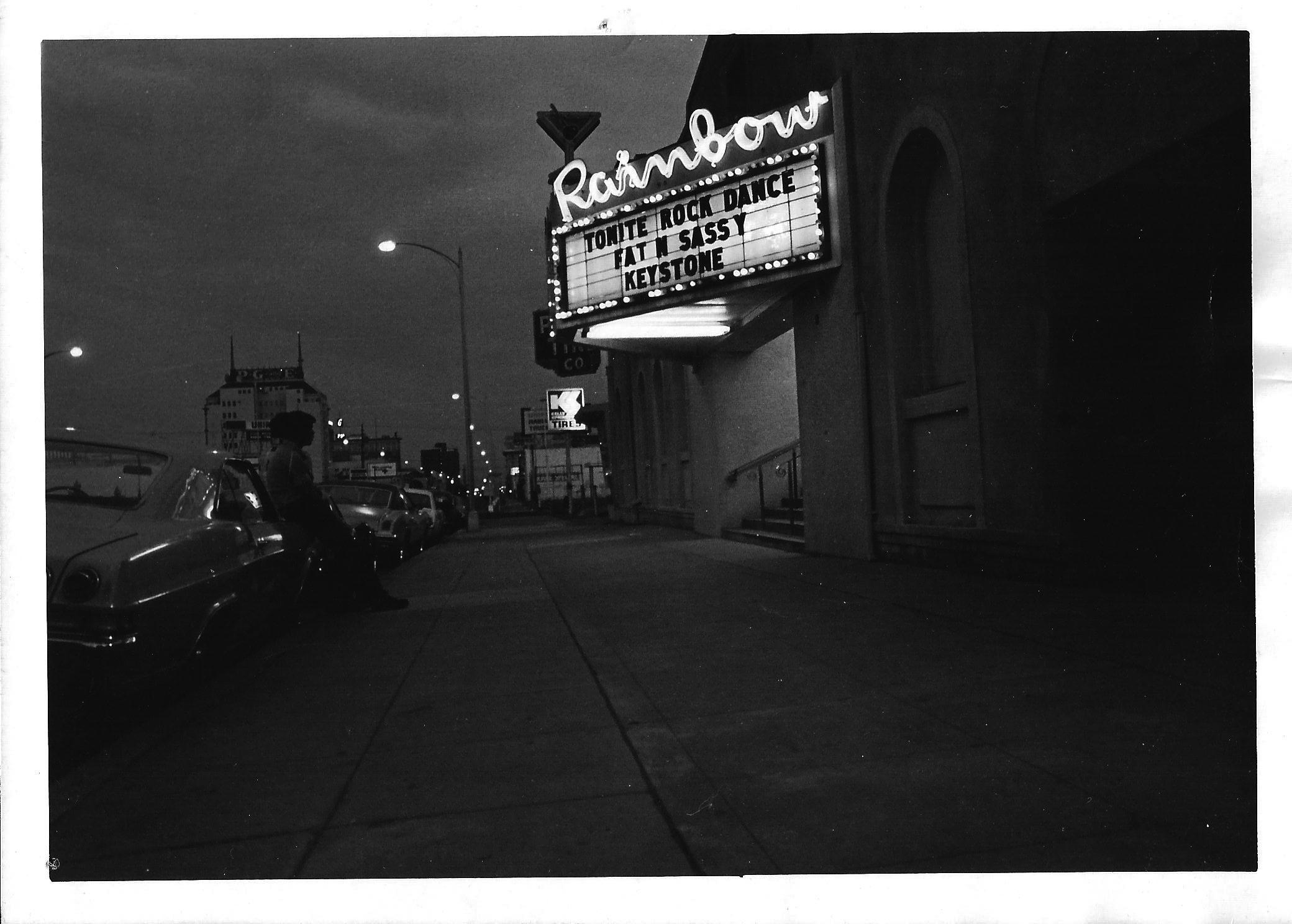 Rainbow Ballroom in Fresno, CA -  1977