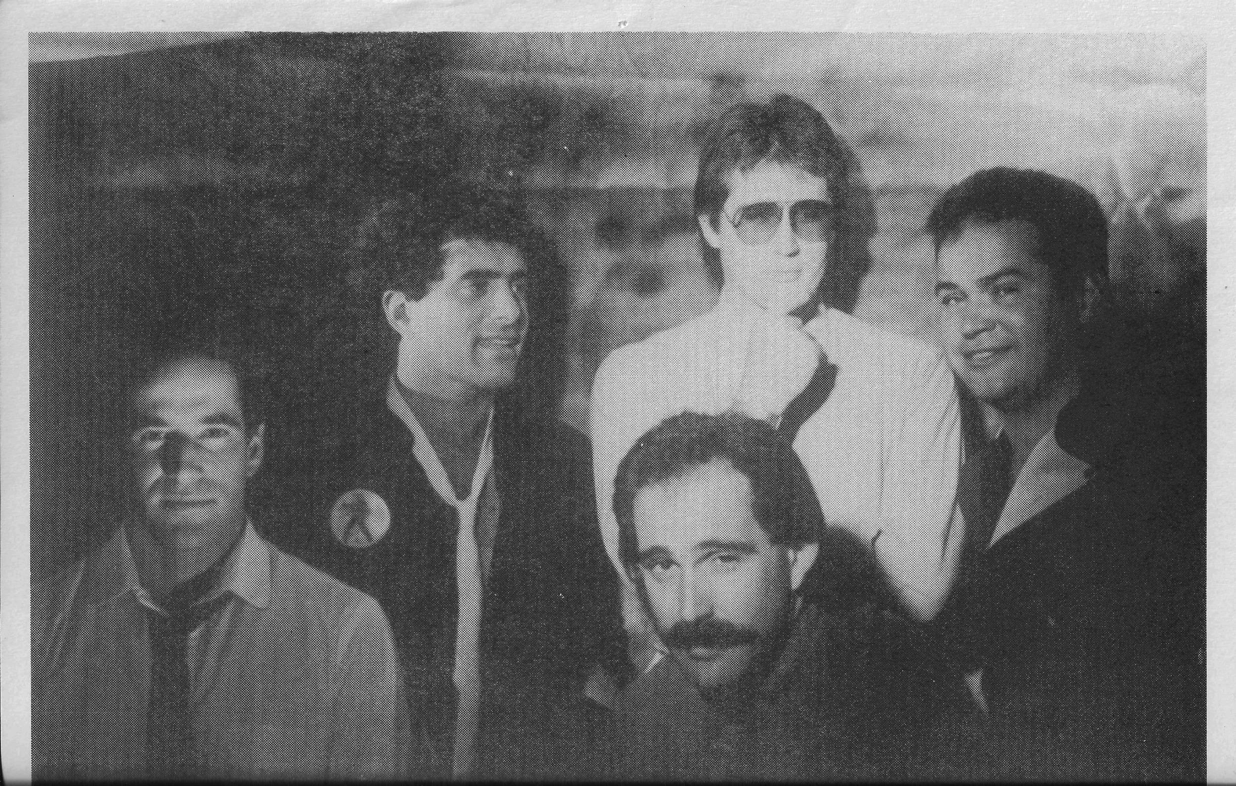 1985 L-R:Ian Greene, Tommy Nunes, John Holt, Evan Hiney, and Chet Hogoboom.