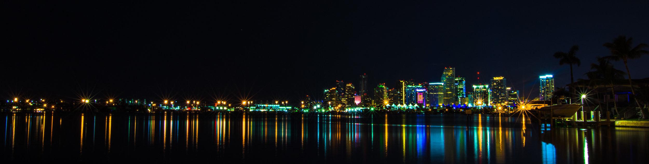 November: Cityi nights | Miami, FL - A first attempt at capturing cityscapes at night.
