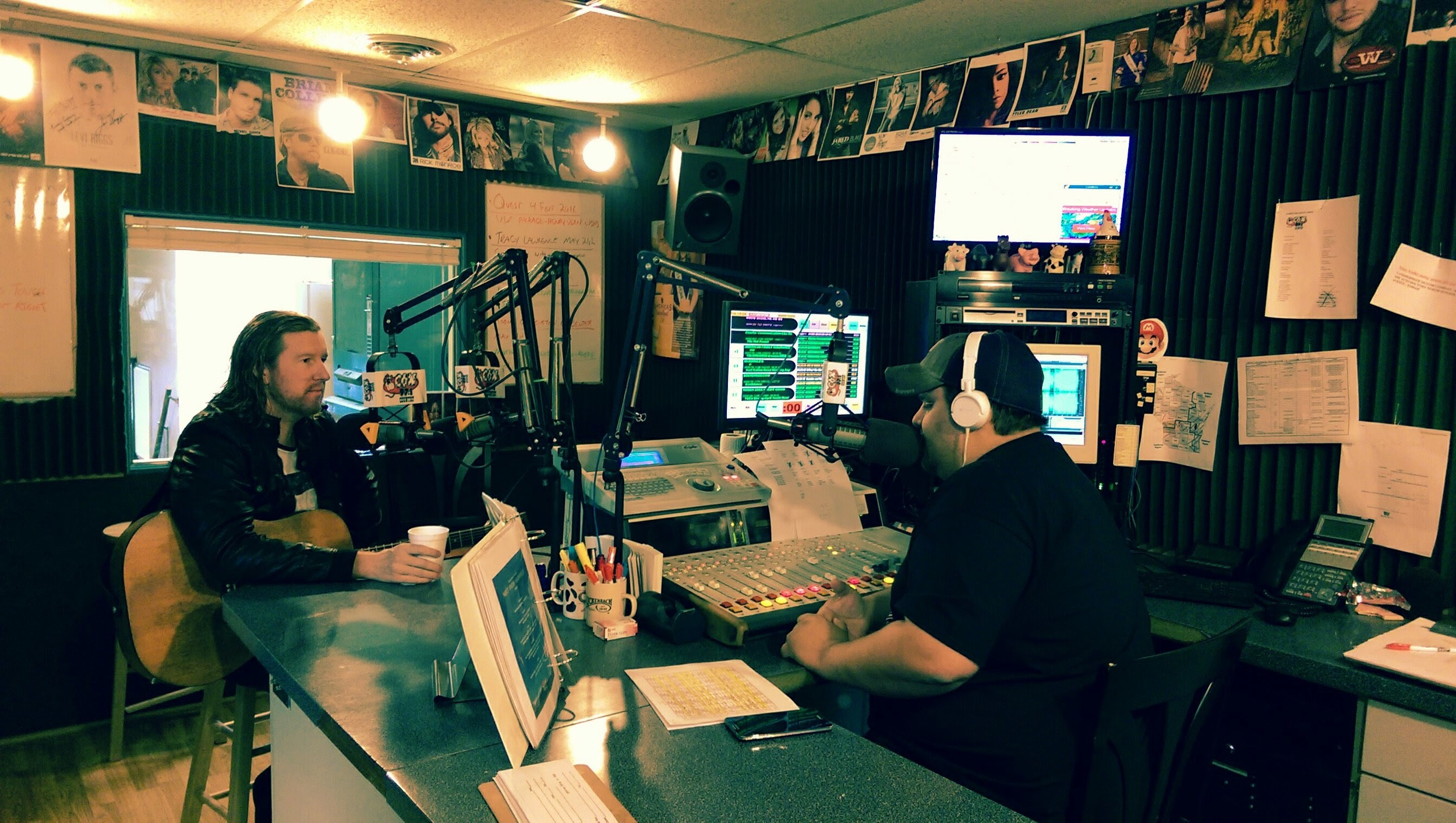 On air with Ben at Cow Country - Sparta, Wisconsin