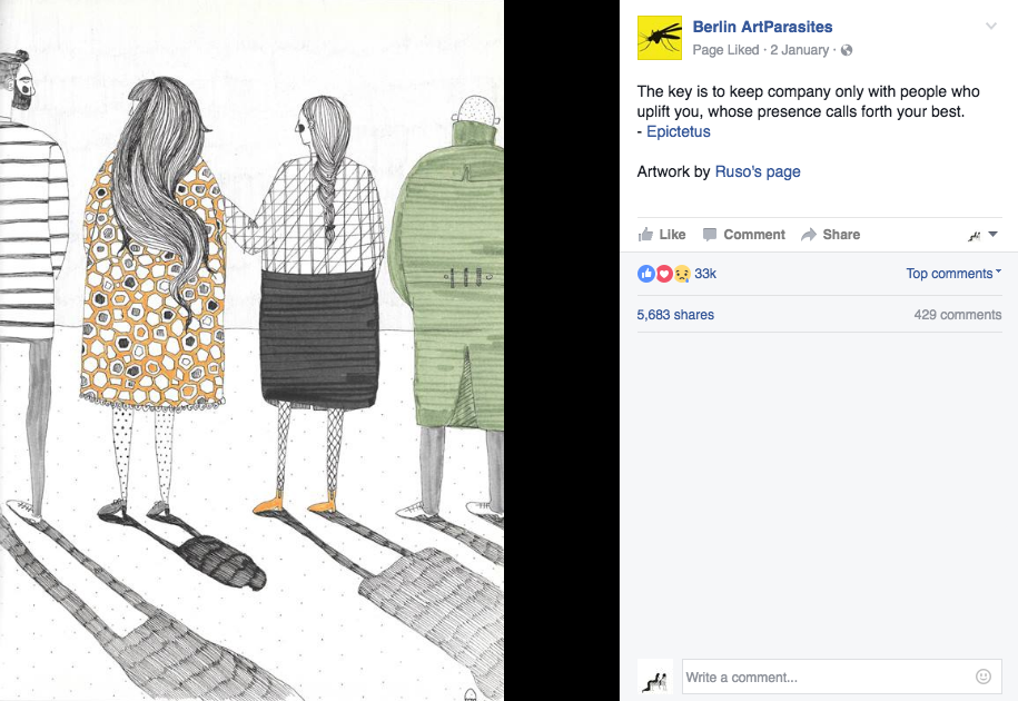Berlin ArtParasites posts my drawing again! /2016