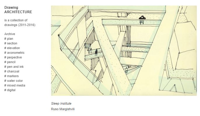Sleep Institute study sketch on Drawing Architecture blog