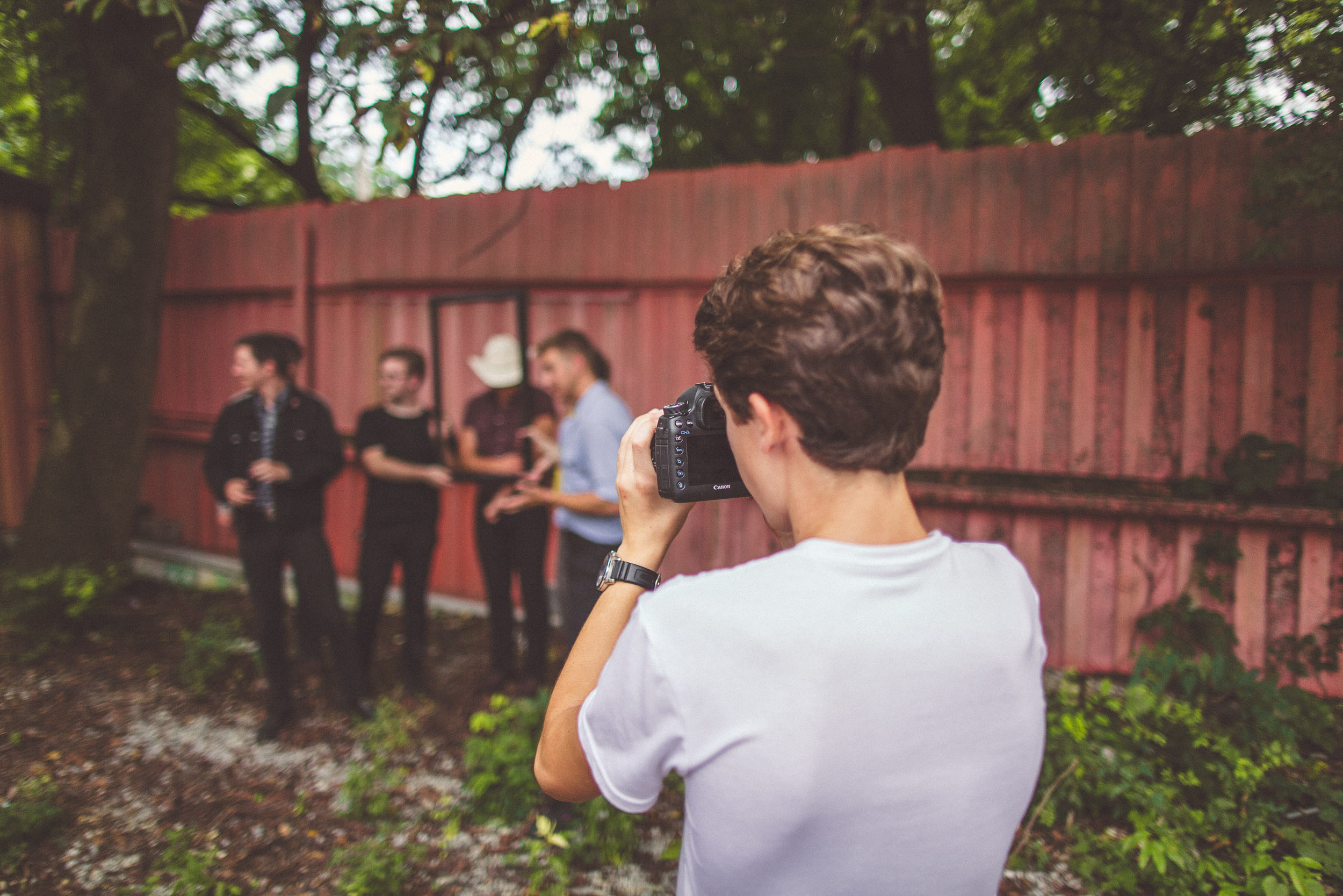 Our student Ben (9th Grade) shooting for local act     El Bandito     during production for their music video.