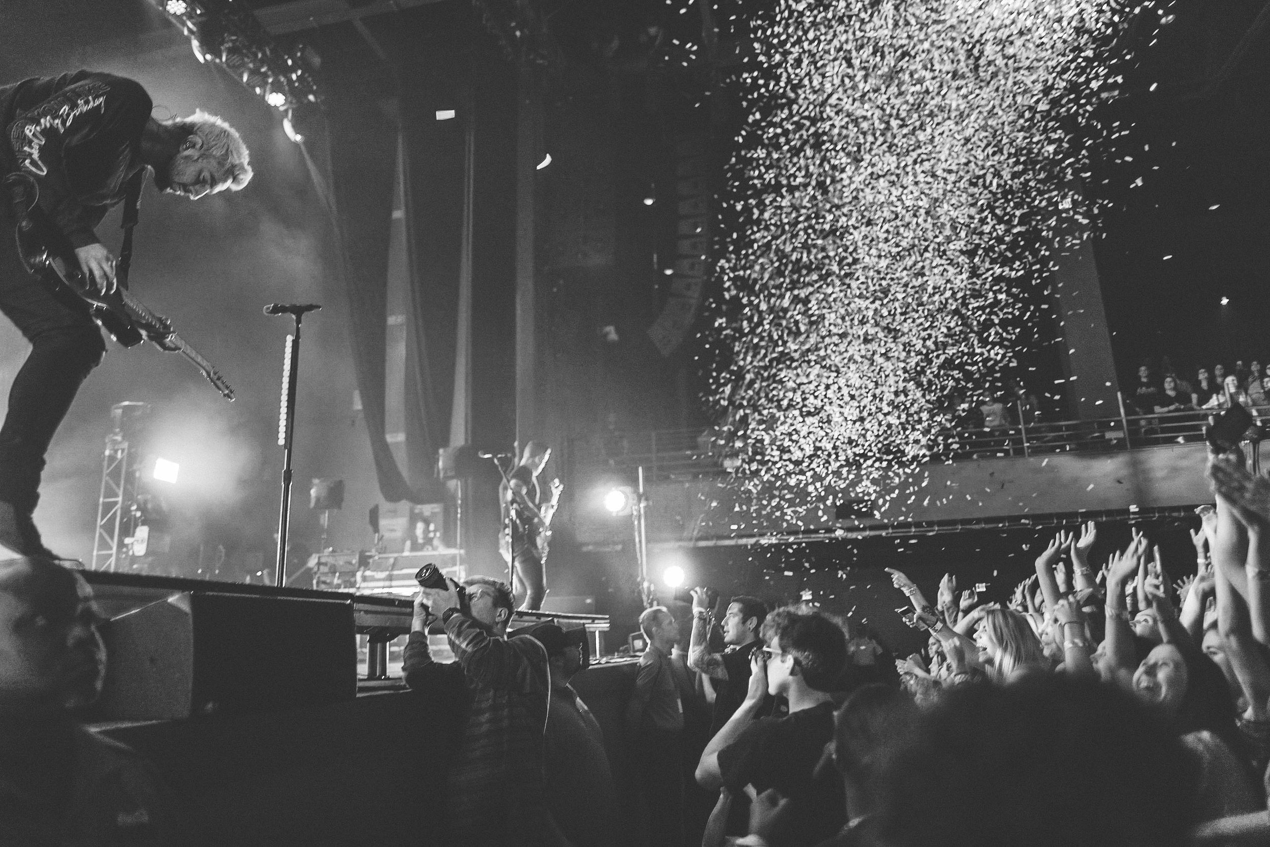 Our student Reed shooting for   All Time Low  . Check out the shot he captured of   Jack Barakat     below!