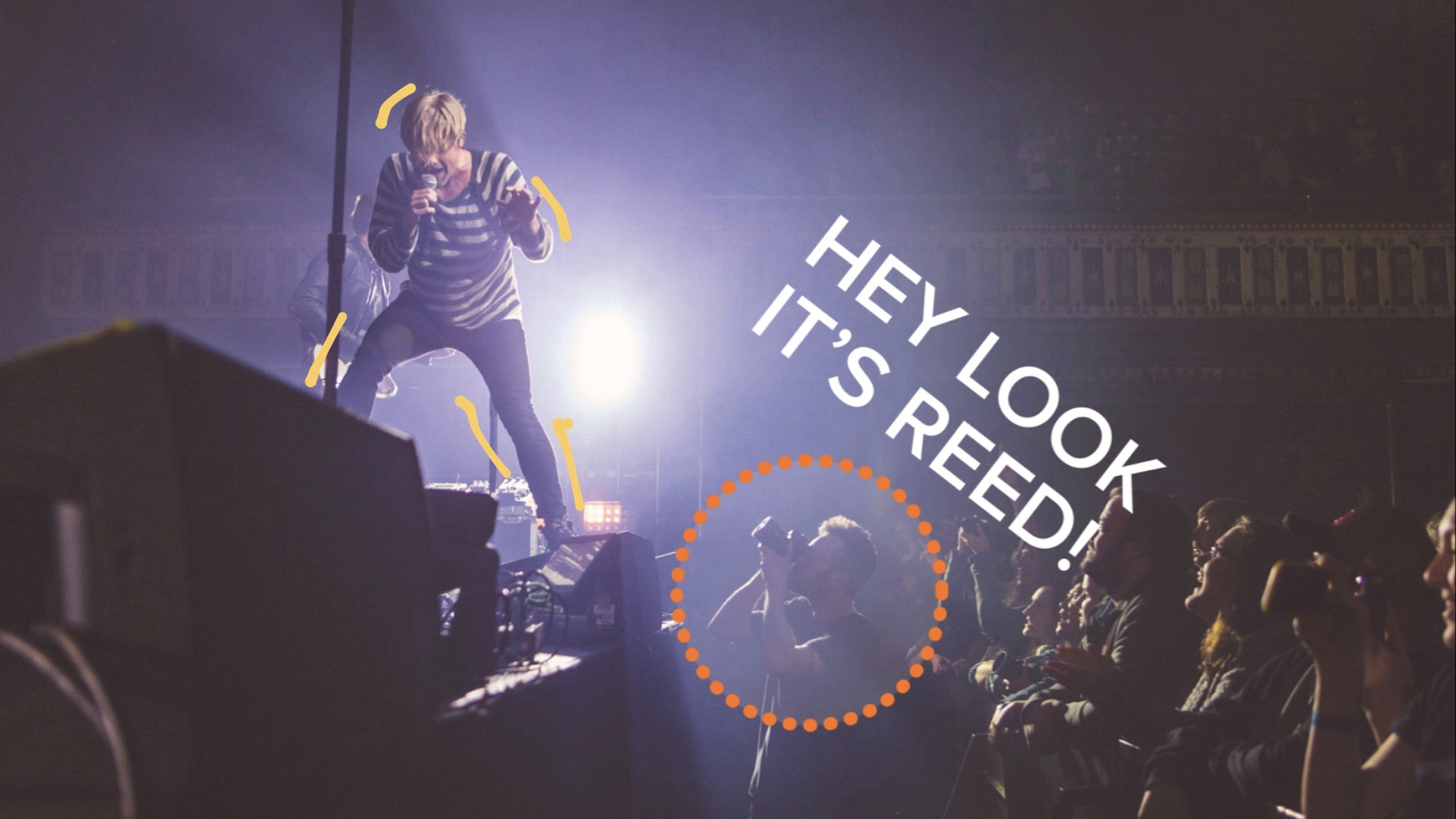 Here is one of our students shooting for platinum record selling and grammy winning band Switchfoot at the Tabernacle in Atlanta, GA.