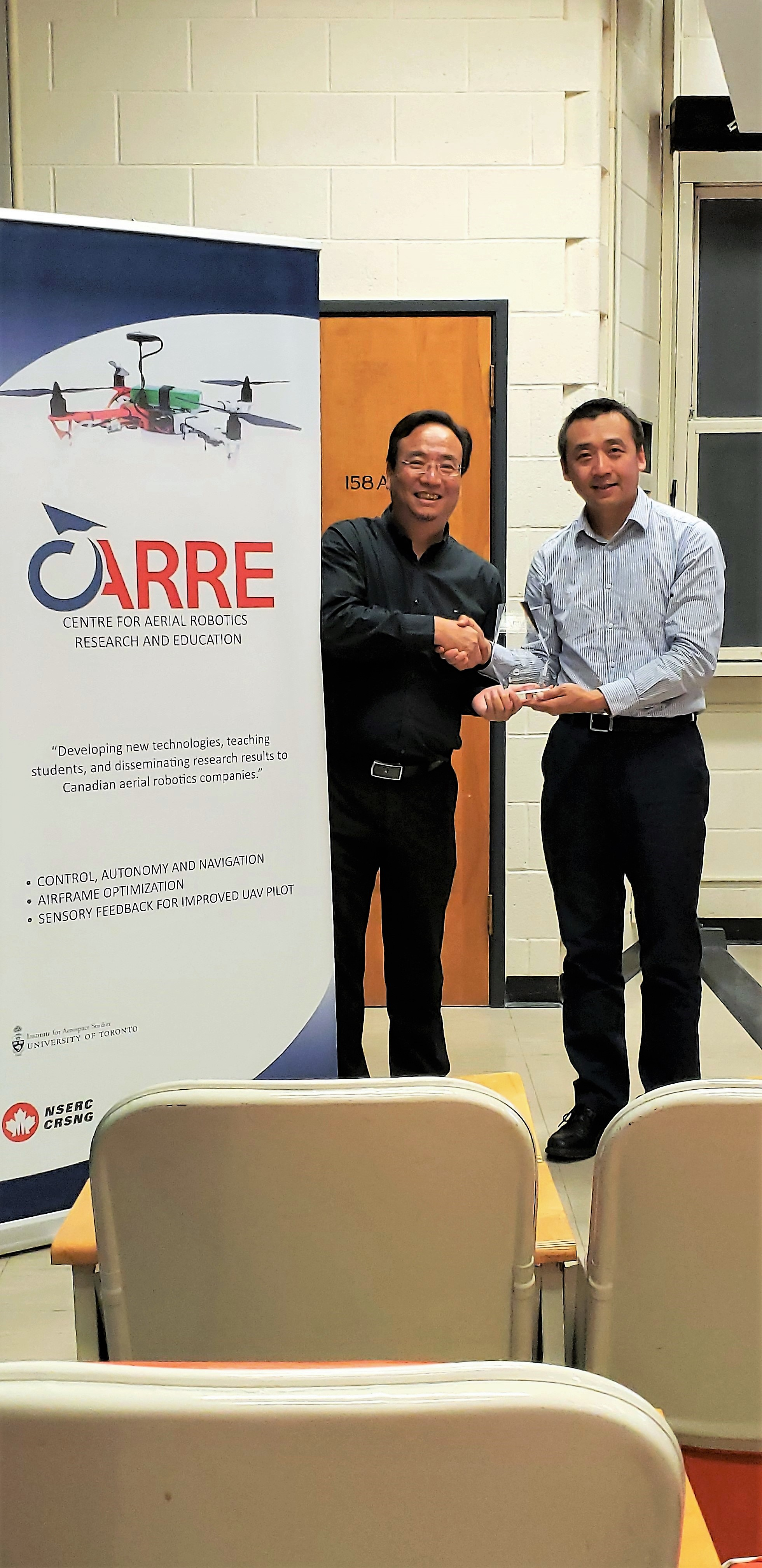 Professor Ben M. Chen, Chinese University of Hong Kong & CARRE Director Professor Hugh Liu