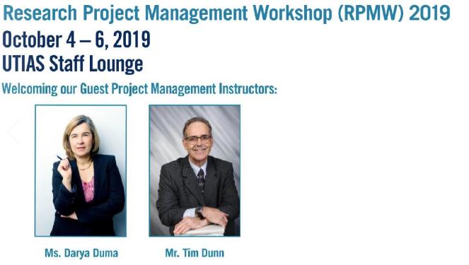 - CARRE Presents RPMW Workshop Series 2019