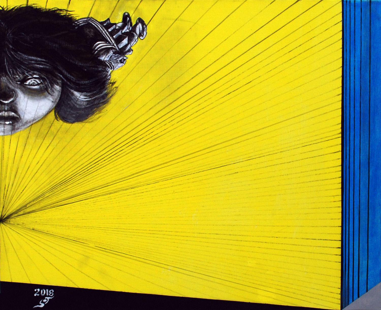 Hiroshi Nakamura,  Value and Depth 7,  2018.  Acrylic on Canvas, 20 7/8 x 25 5/8 inches / 53.0 x 65.2 cm
