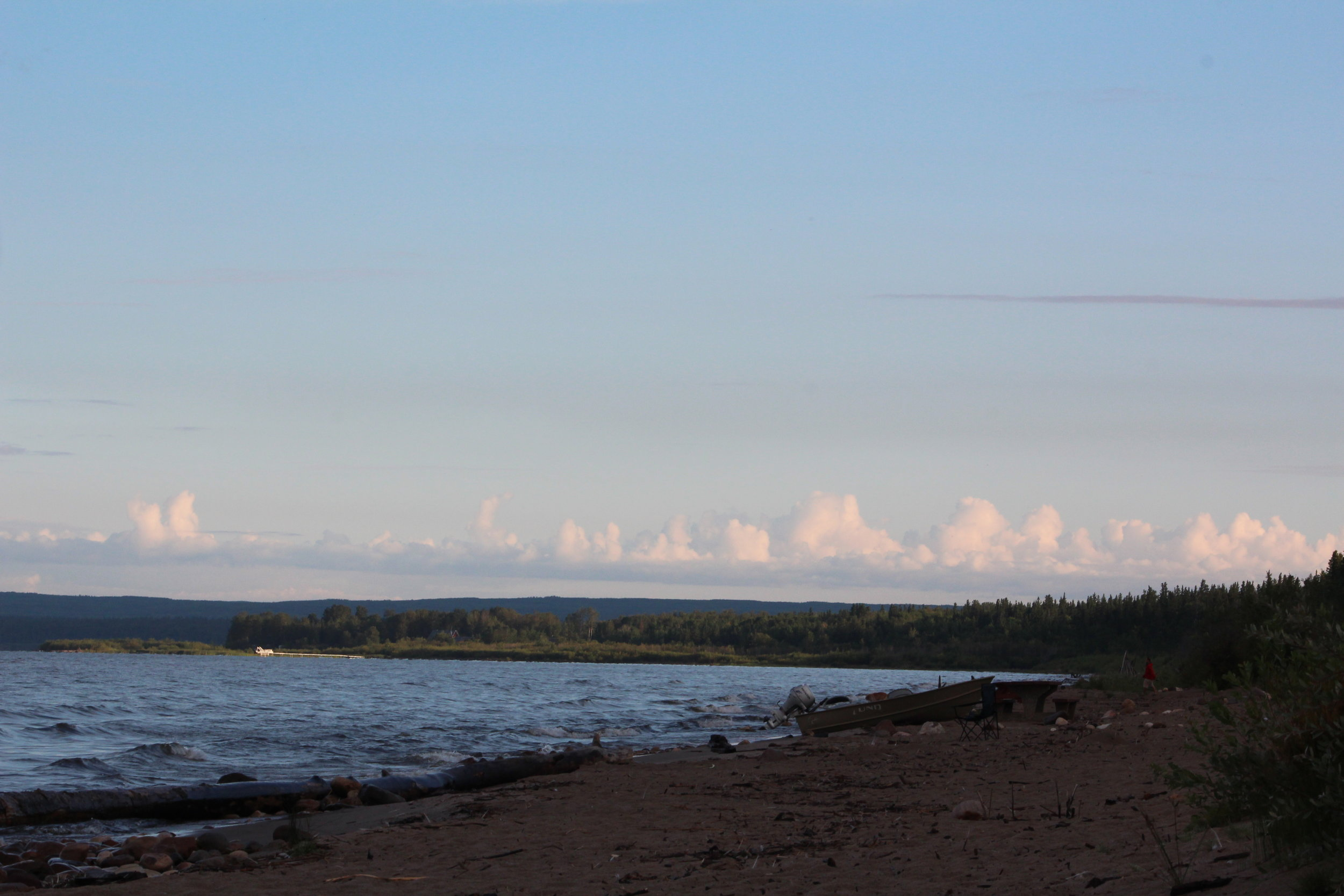 Lesser Slave Lake at sunrise.