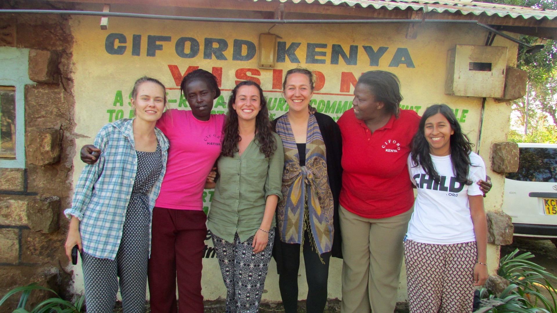 The CIFORD and Child.org team - (From left to right -Hannah, Aurelia, Annabel, Anna, Margaret and Anjali)