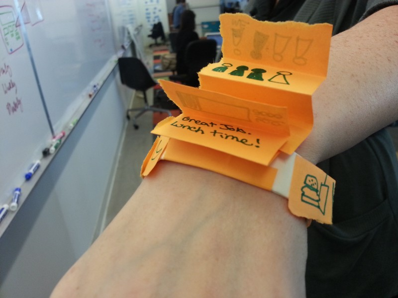 A physical prototype for a fitness tracker