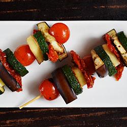 Vegetarian Sticks Tomato, Haloumi, Eggplant, Capsicum and zucchini.