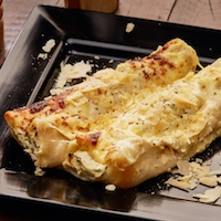 CANNELLONI  We have Two different types of Cannelloni  1. CHICKEN AND MUSHROOM  1. SPINACH AND RICOTTA