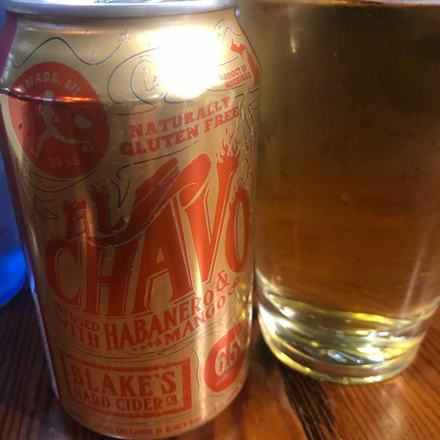 Mango and habanero cider is delicious and you can definitely feel the burn of the peppers. #beerreview #holdmybeer #podcast #hardcider #alchol #habanero #beer
