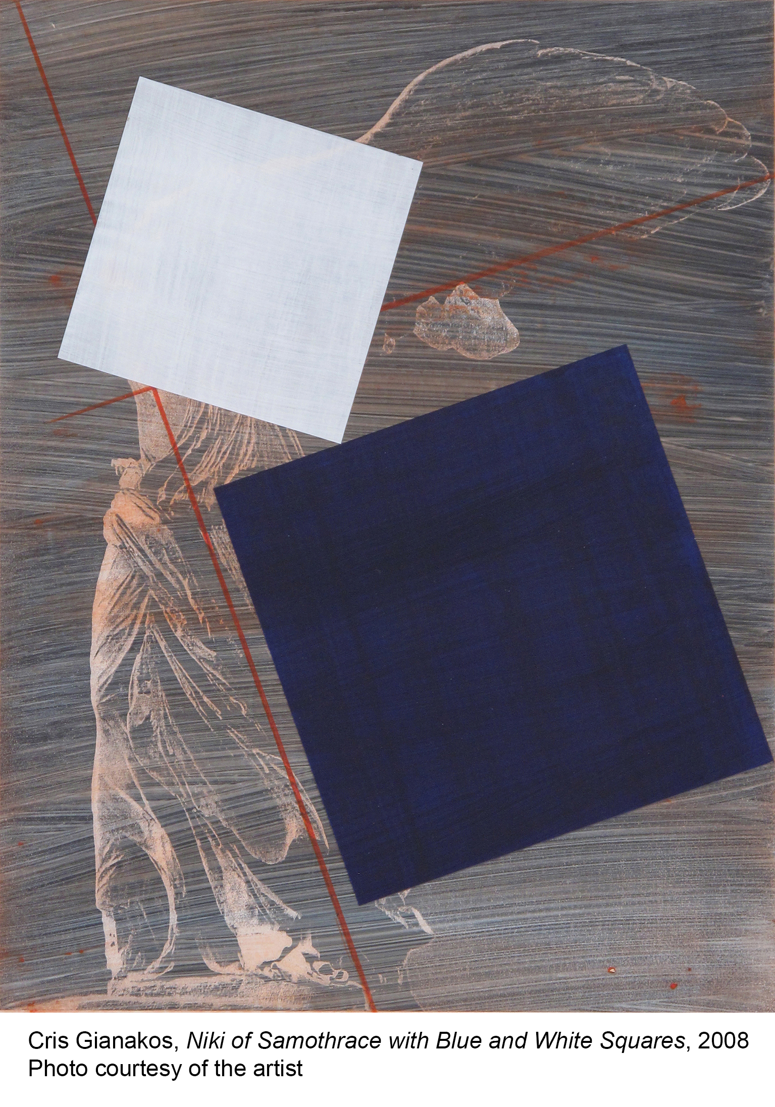 01-Gianakos_Cris_ Niki of Samothrace with Blue + White Squares_2008_title.jpg