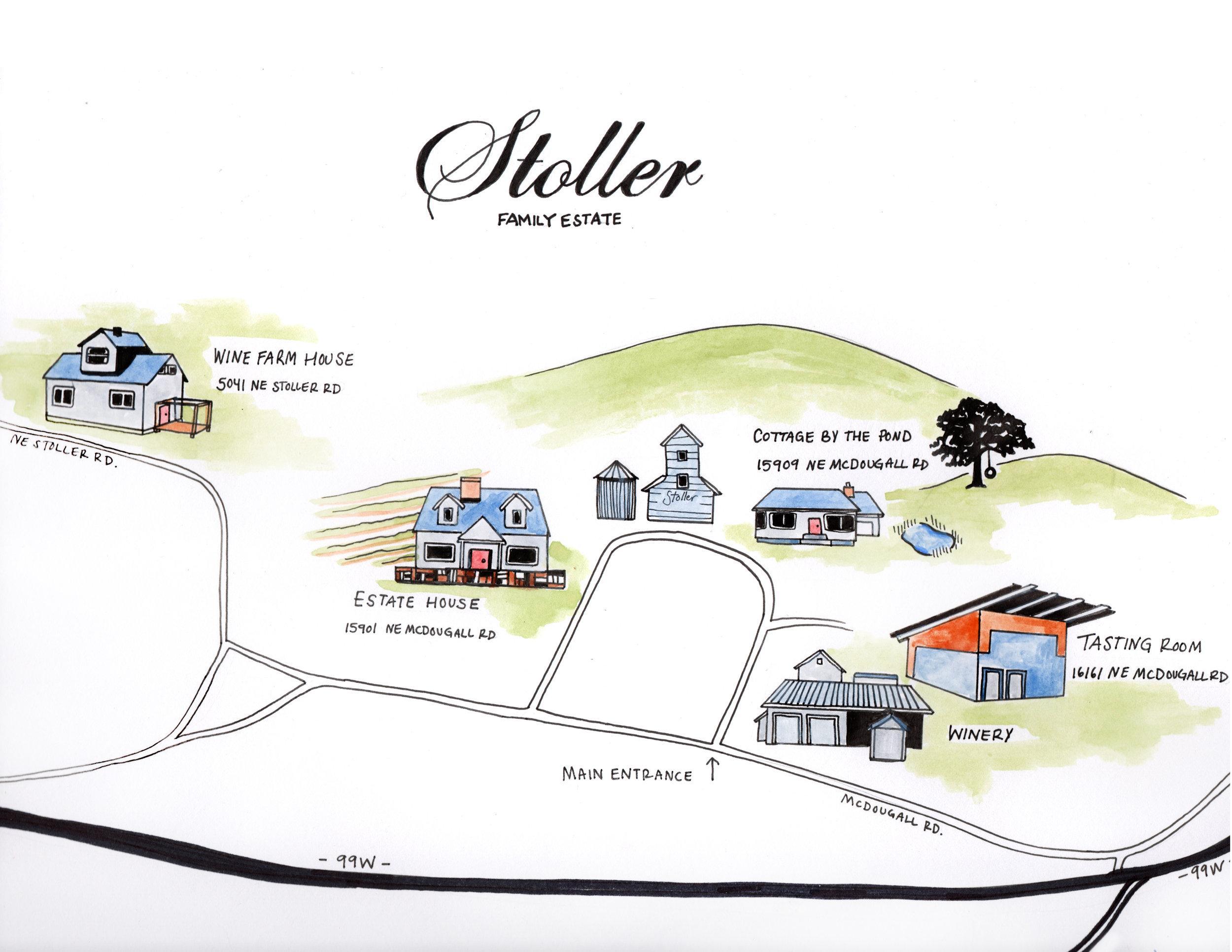 Vineyard map for Stoller Family Estate