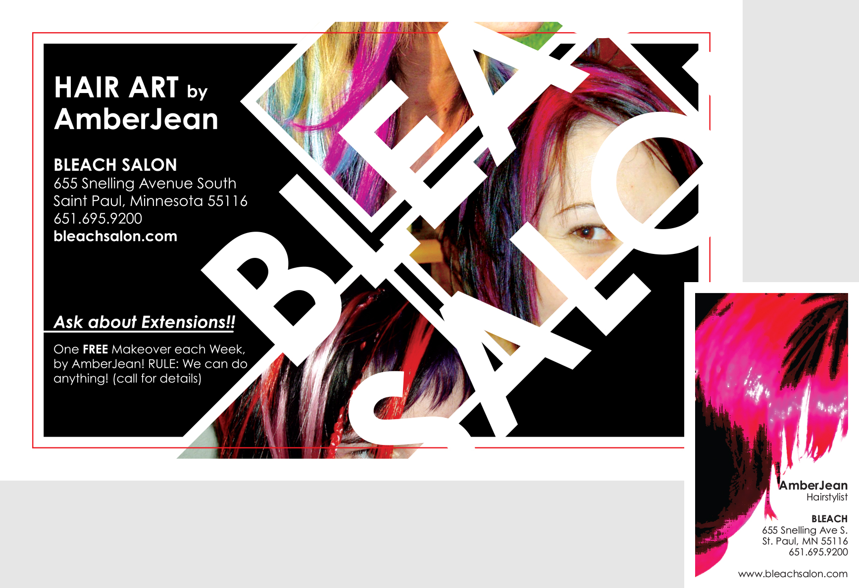 Bleach Salon Flyer & Branding