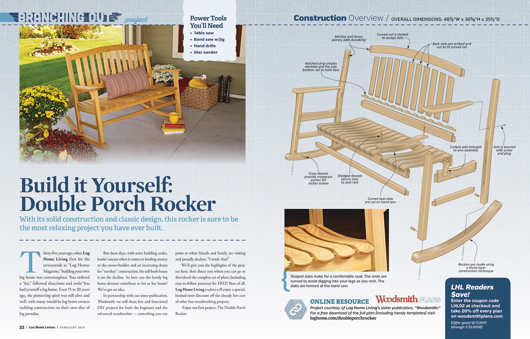 Build it Yourself: Double Porch Rocker