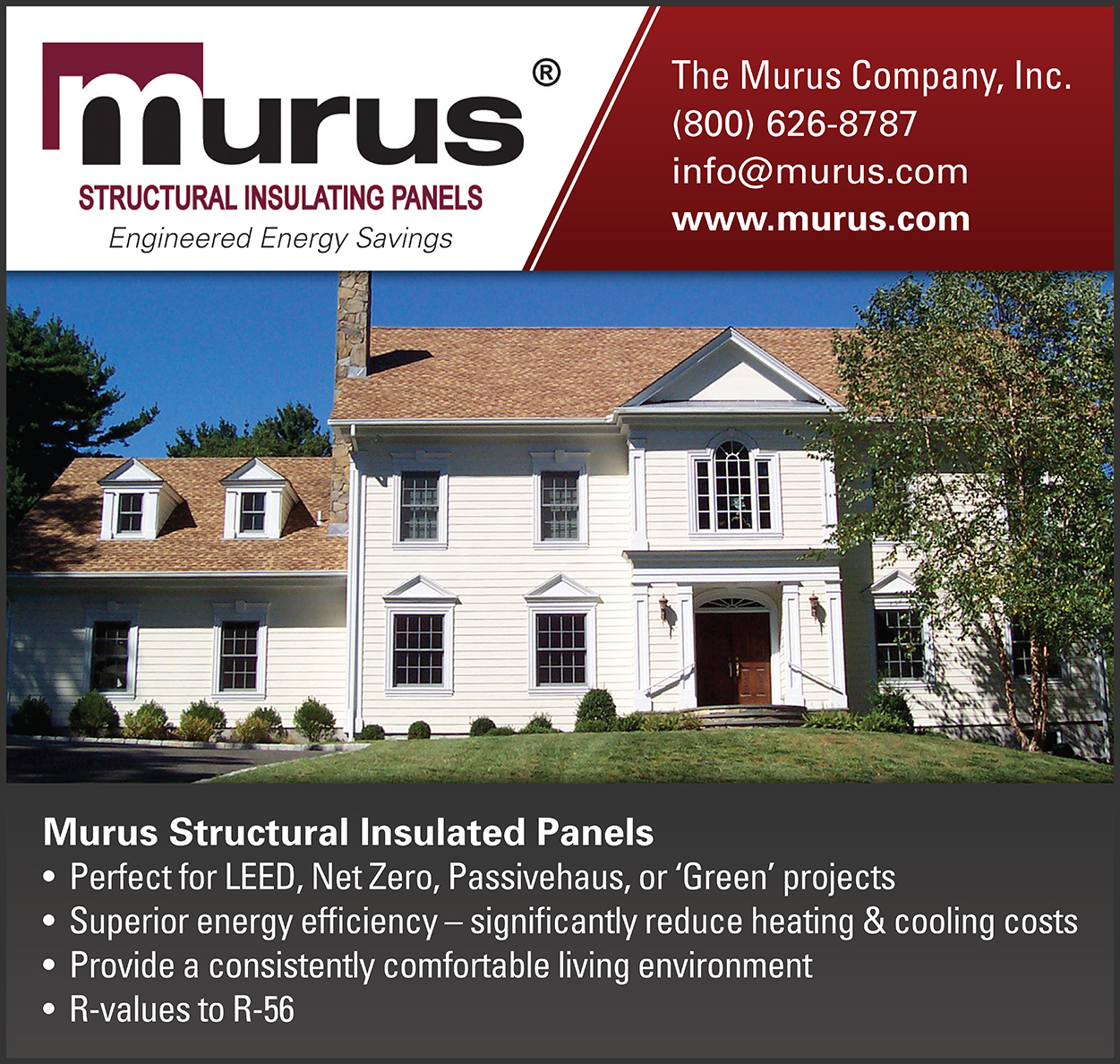 Murus Structural Insulating Panels Ad